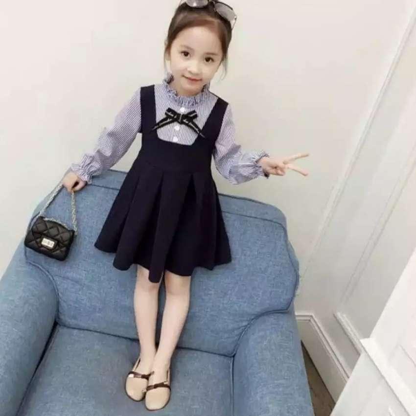 Dress anak perempuan sailor/ uniform blue 0