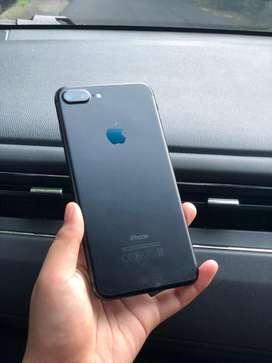 Iphone 7 plus 128gb black matte fullset
