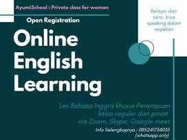 Les bahasa Inggris dan Mengaji Online khusus perempuan dan anak-anak