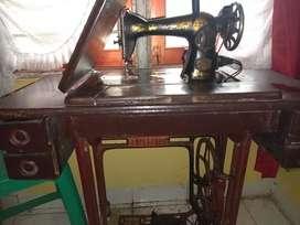 Mesin Jahit Butterfly JA-1 klasik tradisional (unit mesin dan mejanya)