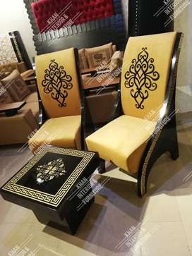 High gloss chairs set in decent price 45000