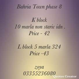 Bahria phase 8 L block plots