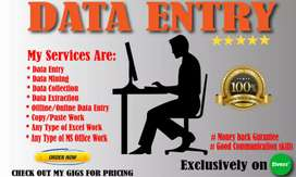 Data entry, contents writing, copy paste, freelancers, data extraction