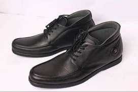 Sepatu boot ankel pria sepatu kulit asli Model Harris