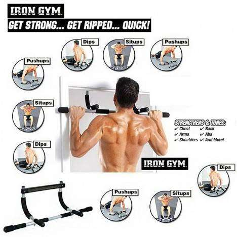 Iron Gym Pul up Bar machines and other equipment for the home Many typ 0