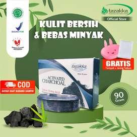 Tazakka Activated Charcoal Soap Arang Aktif BPOM Sabun Mandi Batang Pe