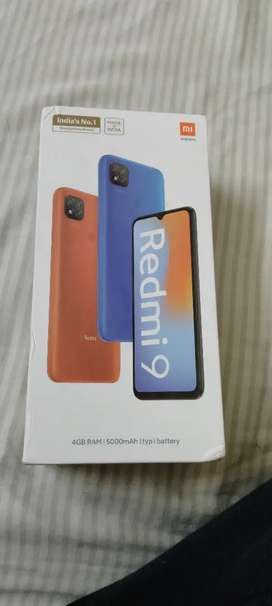 Redmi 9(4gb,64gb) Box pack with Bill at only Rs.7999/