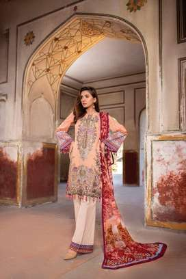 Women Dress Cloth Digital Printed Lawn with Stylie