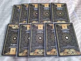 Emas logam mini gold size 0.025 gram