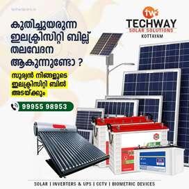 1KV OFF GRID Solar Installation @ 45000