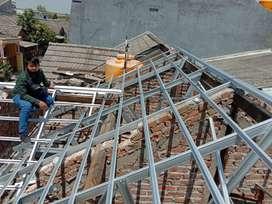 Borongan baja ringan atap limas