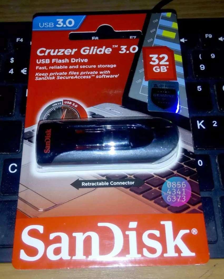 Flashdisk USB 3.0 SanDisk Cruzer Glide 32GB Ori Garansi Resmi 5 Tahun
