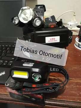 Senter Lampu Kepala LED Headlight Cree Taffled