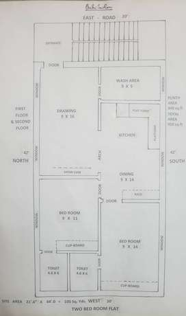 Independent House in 105.11 sq. yds and 840 sq. ft Floor Area