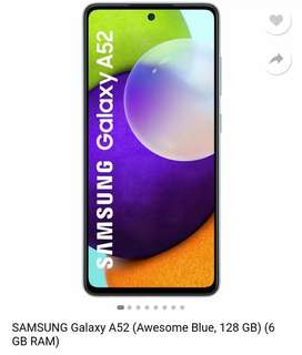 Samsung A52 6gb 128g water proof