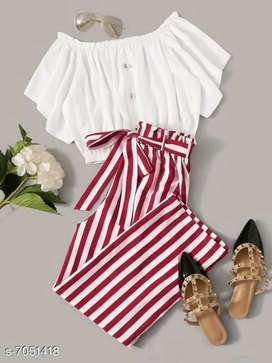 Trendy top and bottom
