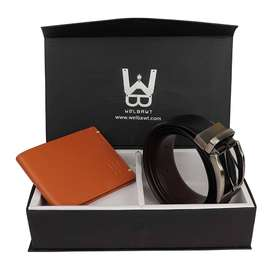 Buy WELBAWT Genuine Quality Leather Wallet & Belt Combo for Men Online