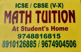 Math tuition at student's home