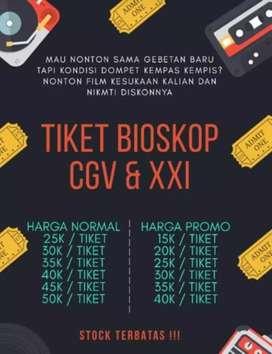 Tiket Bioskop XXI dan CGV Murah