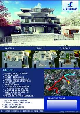 Villa mewah 3 lantai di Flamboyan Kota Batu