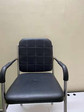 Sitting Chair with steel frame and leather touch sitting for sale