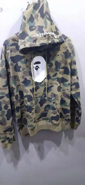 A Bathing Ape x Champions Hoodie Army Style