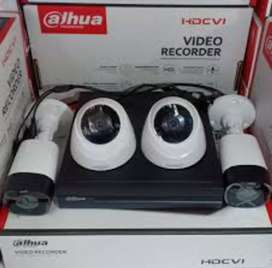 Cctv kamera dengan dvr dahua 2mp hd