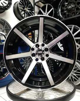 Velg Mobil Nissan: (March) dll R17X75-9 HSR NE7 Black Machine Face