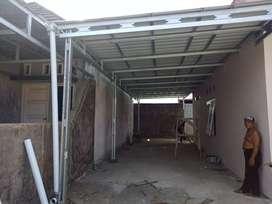 Pemasangan kanopi rangka   atap baja ringan TASSO