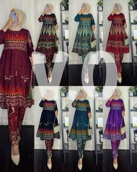 Oneset tunik rayon batik
