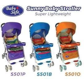 BabySafe Baby Sunny Stroller S501B - Biru