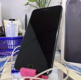 iphone 7 plus jet black 128gb fullset second