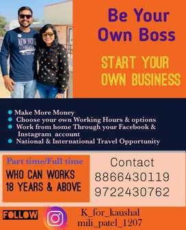 Work from home Part Time or full time