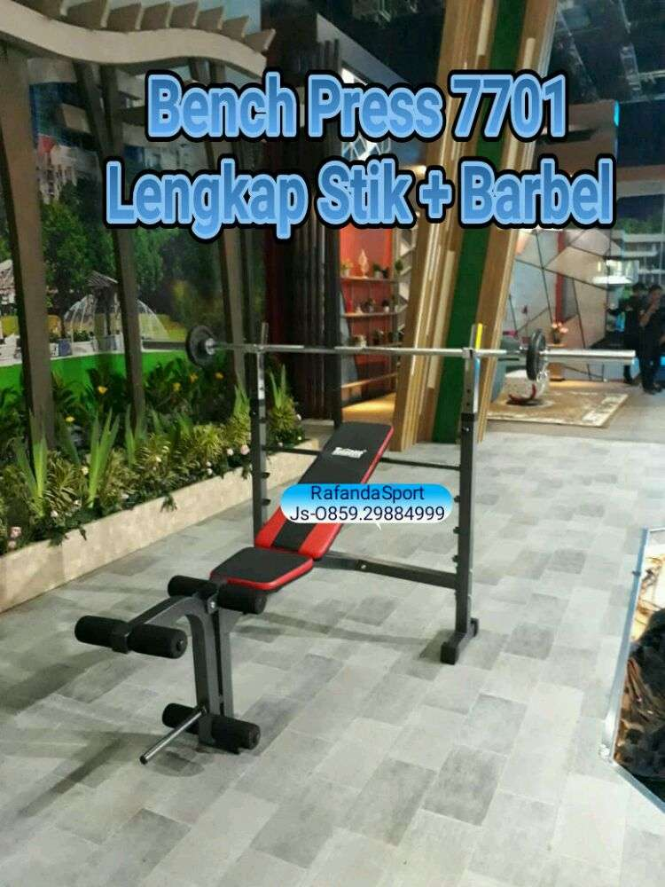 Bench Press 7701 Lengkap Stik Dan Barbel 0