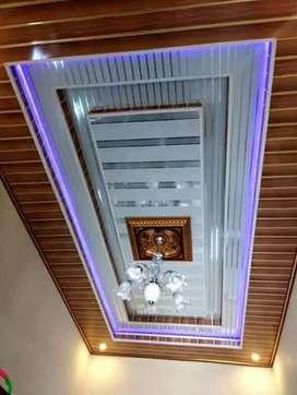 Pvc plafon modern dan gibsum