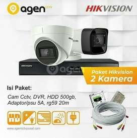 Paket CCTV 2 Kamera + Jasa Pasang