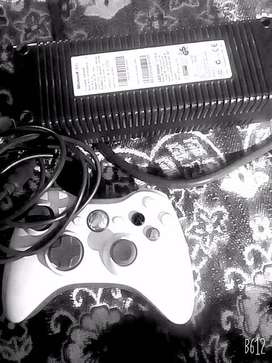 Xbox 360 controller and ac adapter.