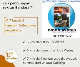 Guest house mungil & murah dekat bandara kulonprogo, yogyakarta
