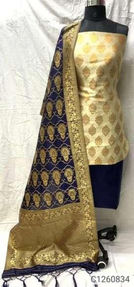 Fresh piece. Latest banarasi silk dress with zair work