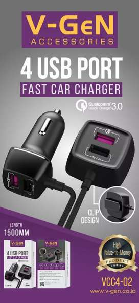 4 USB PORT FAST CAR CHARGER