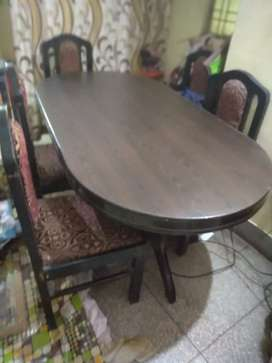 Table  with six chair