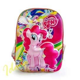 Tas Ransel Sekolah Little Pony 3D / Tas Calypso Import Original
