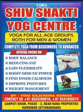 For fitness and diseases treatment by Yog