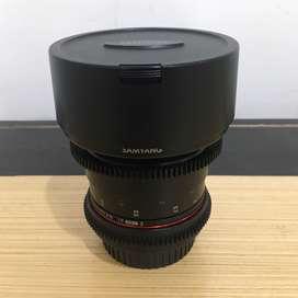 Lensa wide Samyang VDSLR 14mm t3.1 cine lens