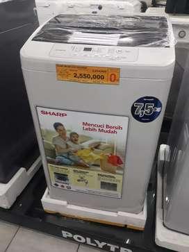 Promo mesin cuci sharp otomatis 7.5 kg