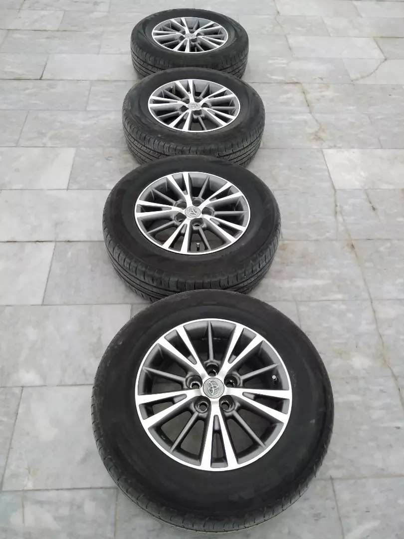 Corolla Prius Alloy Rims with Tyres 15 inch 215/65R15 , 5 Nuts 0
