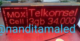 ,running textled display*