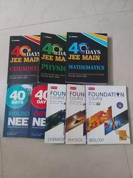 Neet & jee main & foundation course books