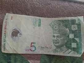 Uang Kertas 5 RM