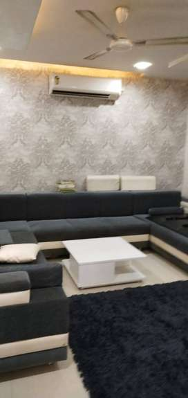 furnished flat in covered society with all amenities in vadodara